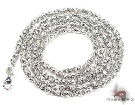 Thin Moon Cut Chain 24 Inches 2mm 15.4 Grams Gold