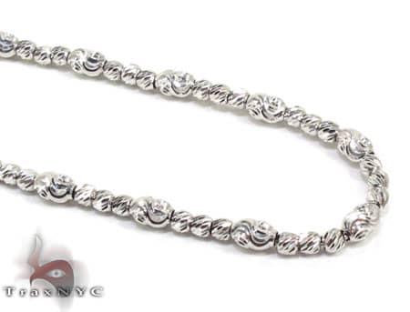 Thin Moon Cut Chain 40 Inches 2mm 15.8 Grams Gold