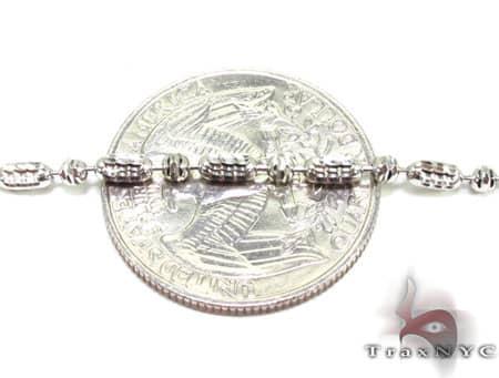 Thin Moon Cut Chain 40 Inches 2mm 14.3 Grams Gold