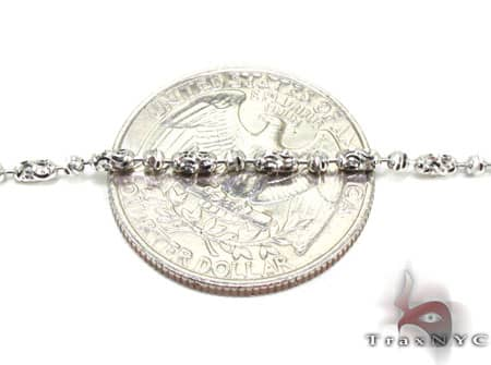Thin Moon Cut Chain 22 Inches 2mm 7.4 Grams Gold