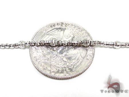 Thin Moon Cut Chain 18 Inches 2mm 7.2 Grams Gold
