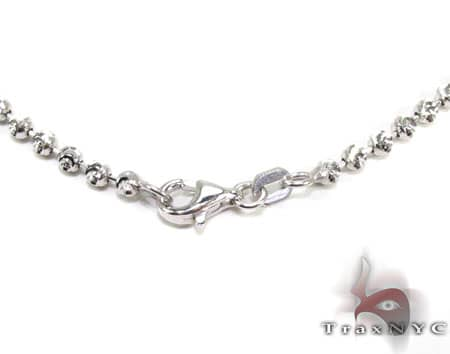 Tiny Moon Cut Chain 22 Inches 2.5mm 8.8 Grams Gold