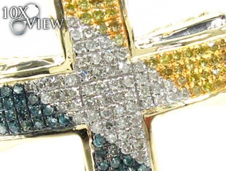 Small Tri Color Aristocrat Cross Diamond