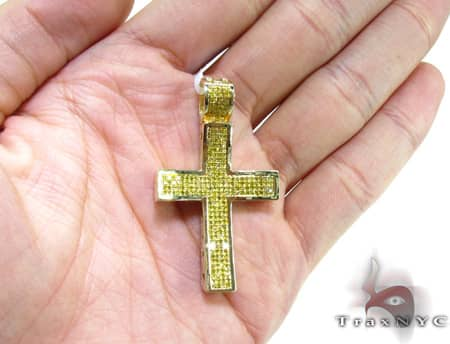 Small Canary Concave Cross Diamond