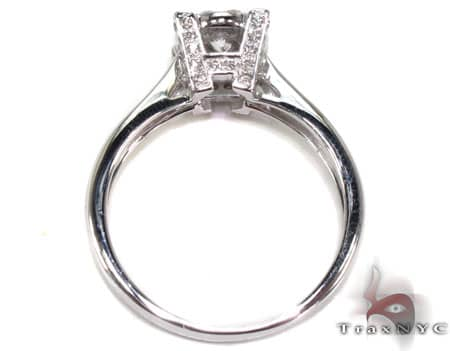 14K White Gold Diamond Ring 19823 Engagement