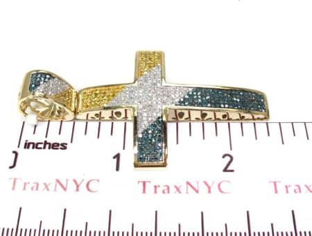 Tri Color Diamond Cross 19829 Diamond