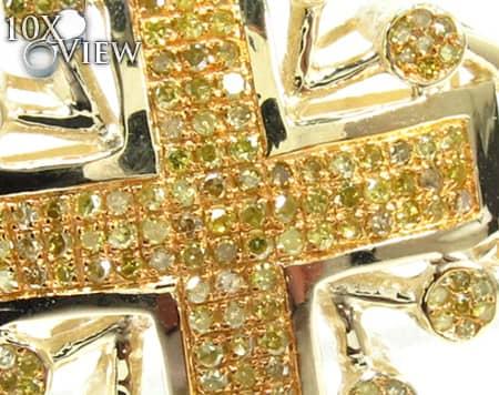 Canary Presidential Cross Diamond
