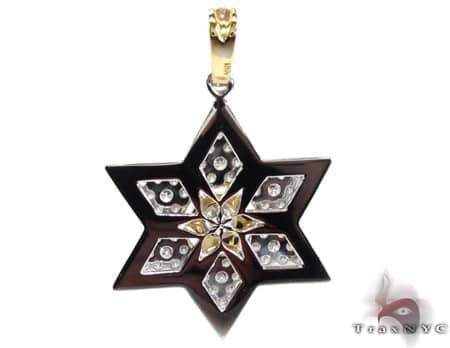 Diamond Star of David Pendant Metal