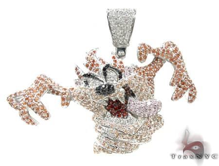Custom Tazmanian Devil Pendant Metal