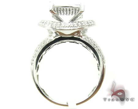 White Gold Avalanche Ring 19920 Anniversary/Fashion
