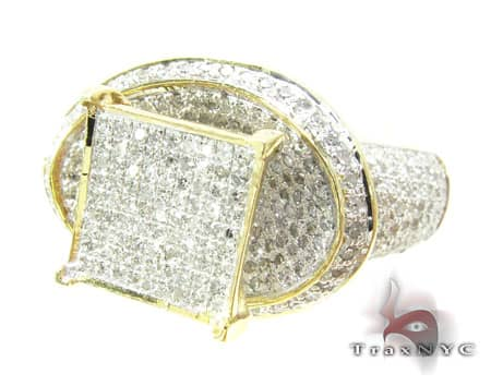 Yellow Gold Avalanche Ring 19921 Anniversary/Fashion