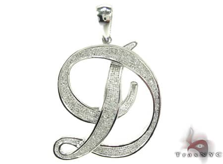 Diamond Initial D Pendant Style