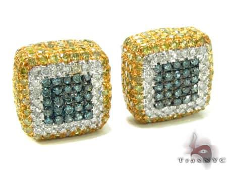 Mens Diamond Earrings 19948 Stone