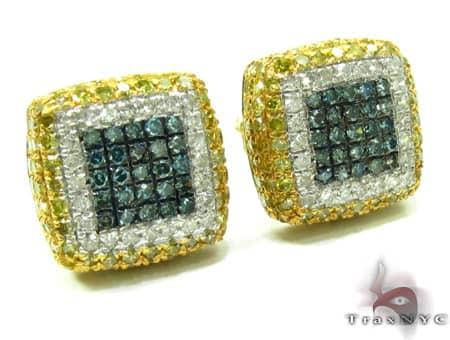 Mens Diamond Earrings 19949 Stone