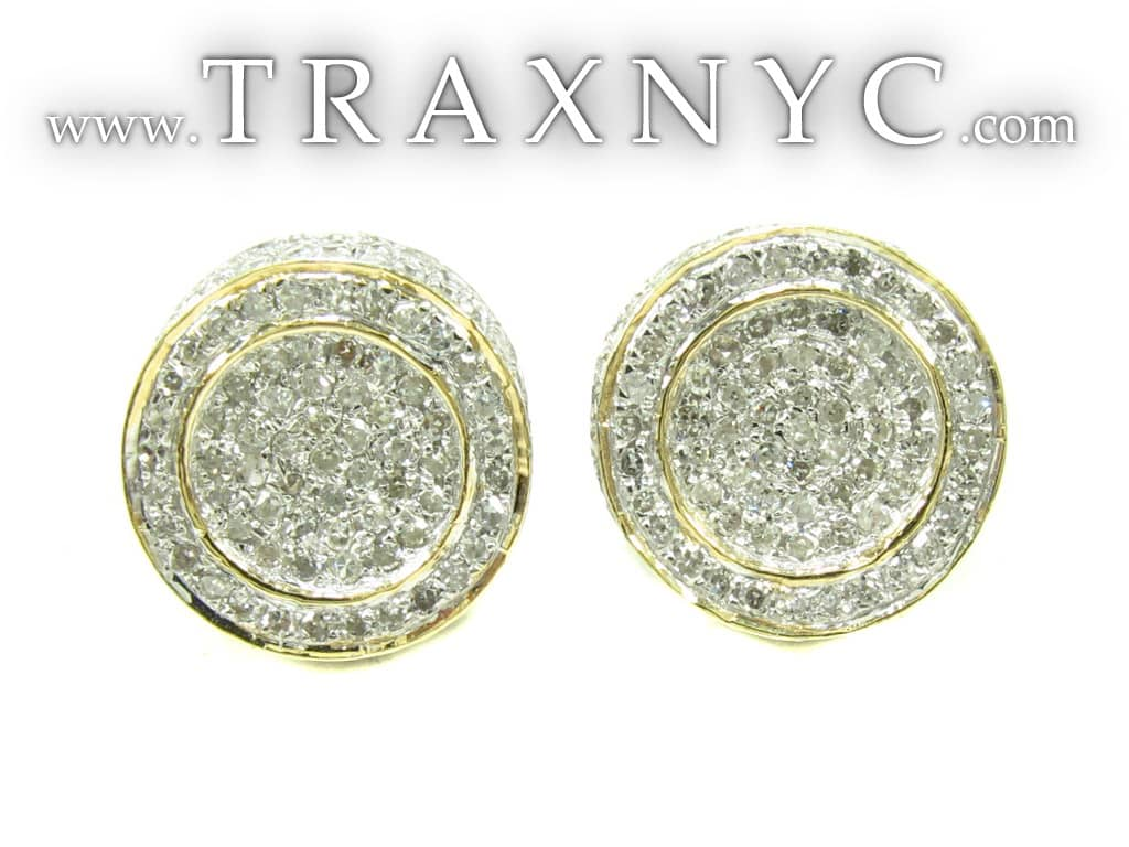 Mens Diamond Earrings on Mens Diamond Earrings 19952 Mens Diamond Earring Yellow Gold 10k Round