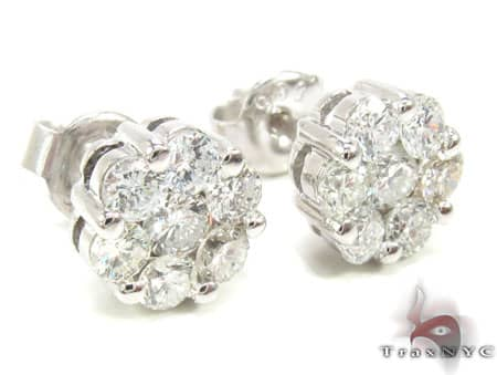 SI2 Round Cut Stud Earring Stone