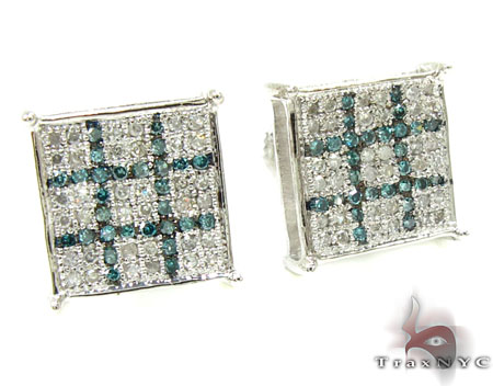 2 Color Diamond Earrings 21730 Stone