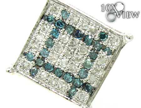 2 Color Diamond Earrings 21731 Stone