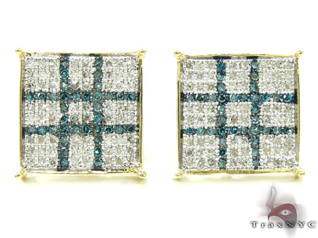 2 Color Diamond Earrings 21734 Stone