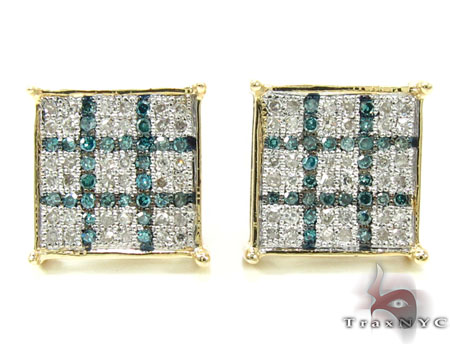 2 Color Diamond Earrings 21736 Stone