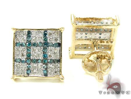2 Color Diamond Earrings 21736 Stone