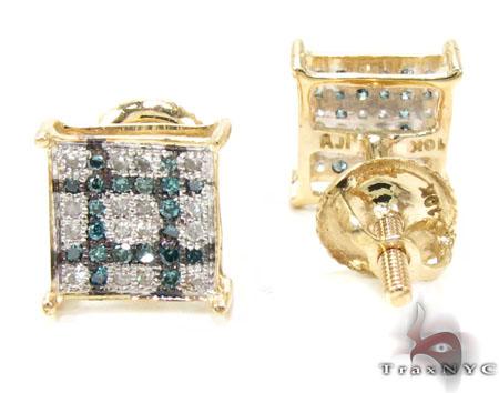 2 Color Diamond Earrings 21738 Stone