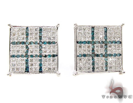 2 Color Diamond Earrings 21780 Stone