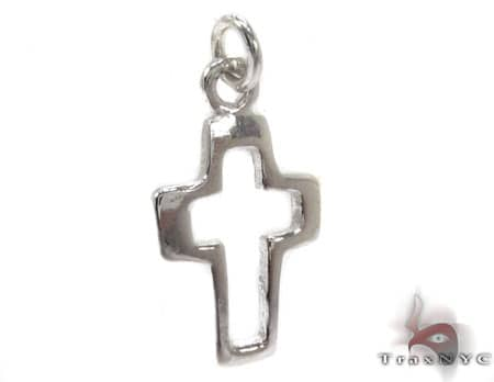 Sterling Silver Small Outline Cross Style