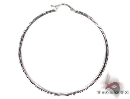 Sterling Silver Hoop Earrings 20029 Metal