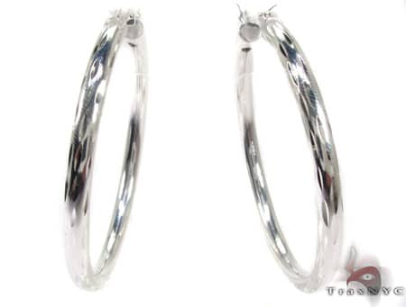 Sterling Silver Hoop Earrings 20031 Metal