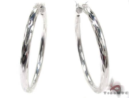 Sterling Silver Hoop Earrings 20031 Metal