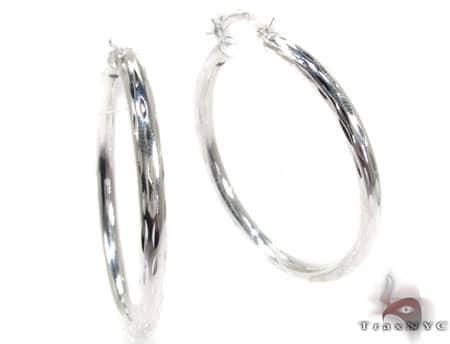 Sterling Silver Hoop Earrings 20032 Metal