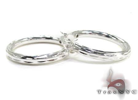 Sterling Silver Hoop Earrings 20034 Metal