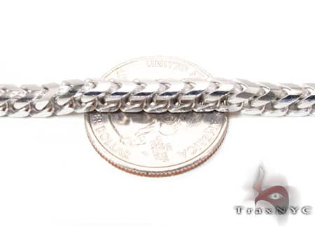 14K White Gold Franco Chain 30 Inches 3mm 60 Grams Gold
