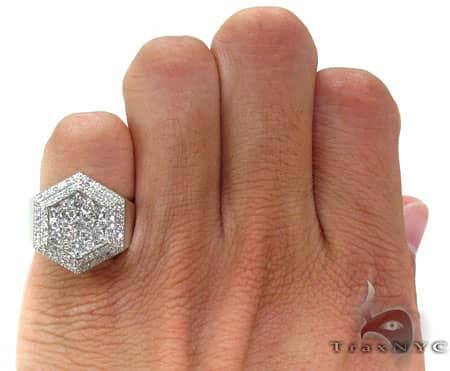 Mens Pentagon Ring Stone