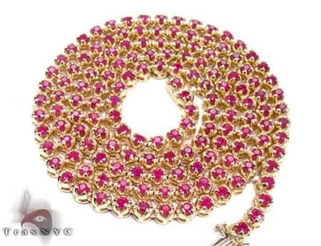 Mens Ruby Chain 26 Inches 4mm 40 Grams Diamond