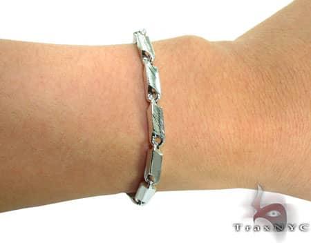 Mens Sterling Silver Bracelet 20128 Silver