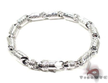 Mens Sterling Silver Bracelet 20132 Silver