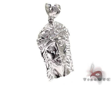Silver Jesus Pendant 20185 Metal