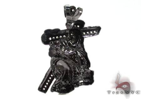 Black Silver Crucifixion Pendant 20237 Metal