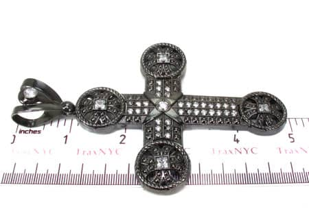 Black Silver Cross 20242 Silver