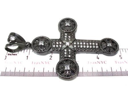 Black Silver Cross 20242 Silver