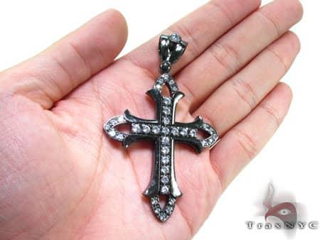 Black Silver Cross 20252 Silver