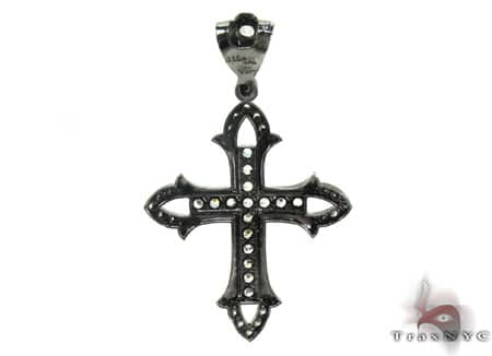 Black Silver Cross 20252 Silver