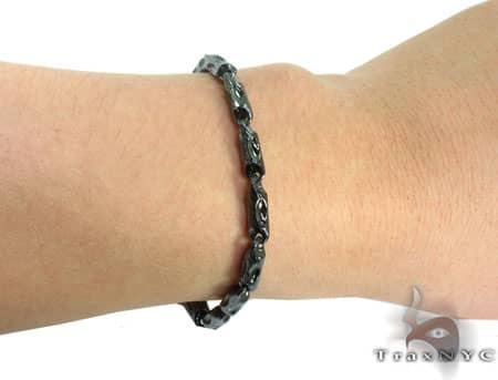 Black Silver Bracelet 20265 Silver