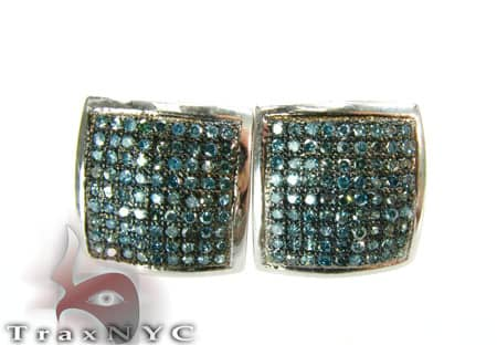 Hip Hop Jewelry - Aqua Diamond Earrings Stone