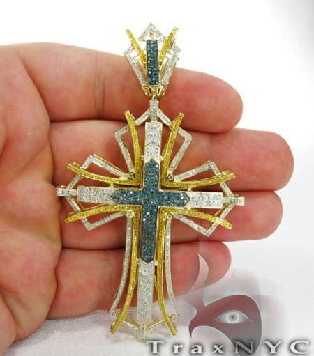 Two Tone Pave Cross Diamond