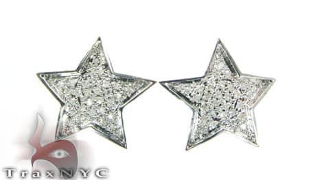 Mini Star Earrings Stone