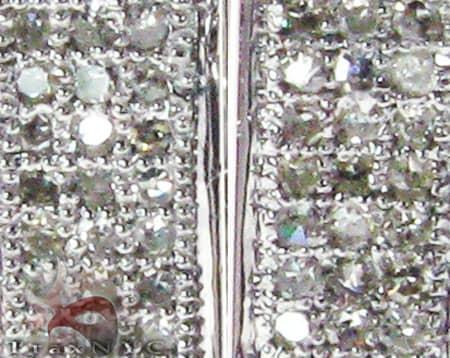 Medium Square Hoop Earrings Stone