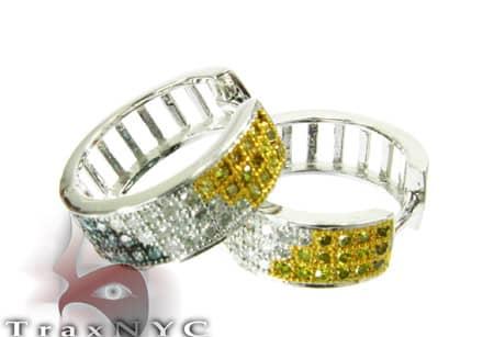 Hip Hop Jewelry - Multi Color Hoop Earrings Stone